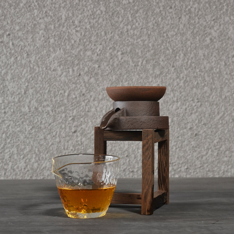 Stone Mill Ceramic Tea Strainer Handmade Tea Leaf Spice Filter Chinese Kung Fu Tea Set Accessories Style Traditional