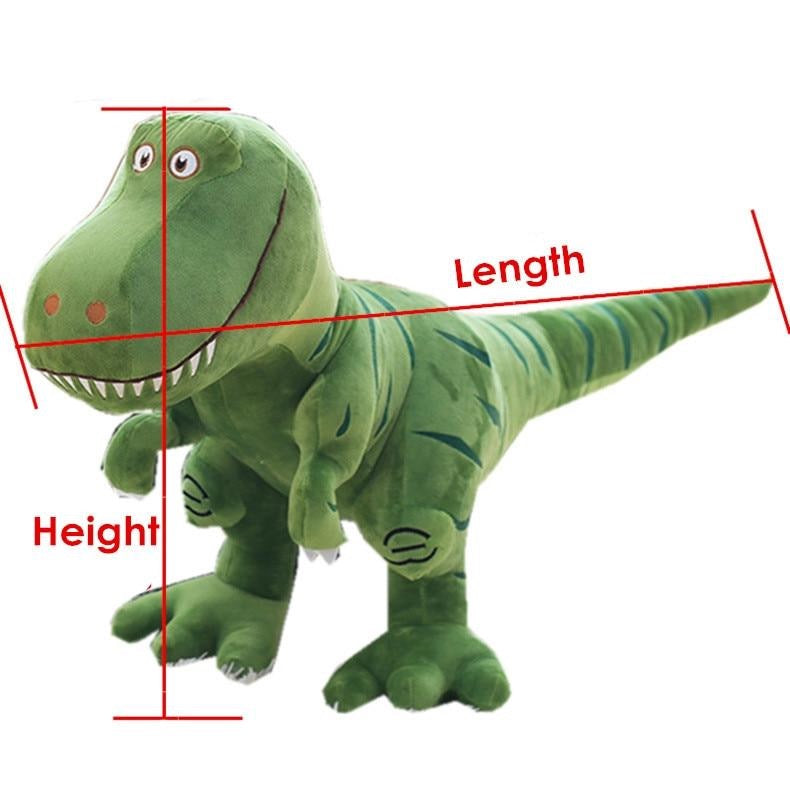 1 Piece 40cm-100cm Anime Dinosaur Plush Doll Toy Japanese Cartoon Tyrannosaurus Cute Soft Stuffed Toy Dolls for Kids Children Adult Birthday Gift Size Chart