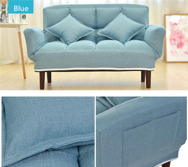 Modern Foldable Blue Japanese Couch Sofa Bed With Backrest and Armrest Japan Living Room Furniture Home Decor Accessories Design