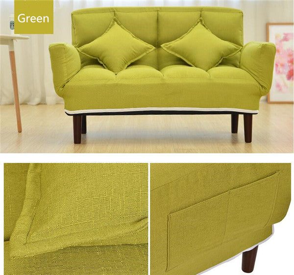 Modern Foldable Green Japanese Couch Sofa Bed With Backrest and Armrest Japan Living Room Furniture Home Decor Accessories Design