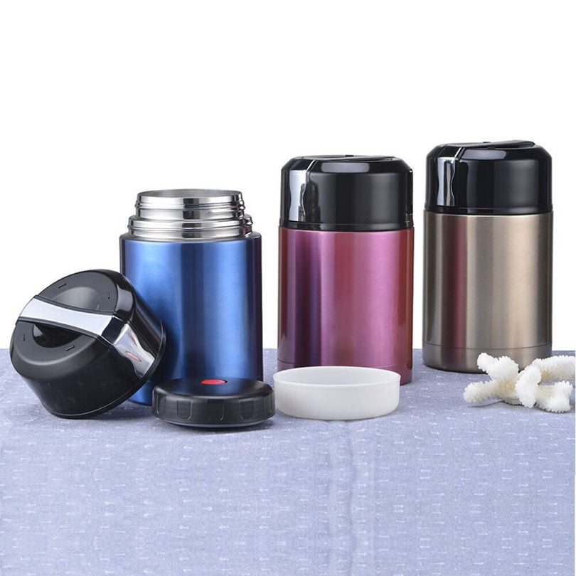 Stainless Steel Vacuum Thermos Blue Red Silver Bento Lunch Boxes Bento Box