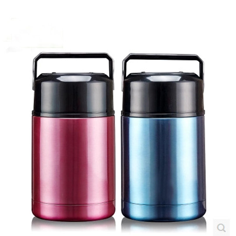 Stainless Steel Vacuum Thermos Blue Red Bento Lunch Boxes Bento Box