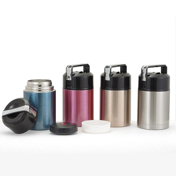 Stainless Steel Vacuum Thermos Bento Lunch Boxes Blue Red Gold Silver Bento Box