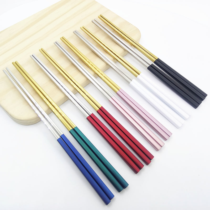 Candy Color Chinese Stainless Steel Chopsticks China Chopstick Home Dining Tableware Accessories