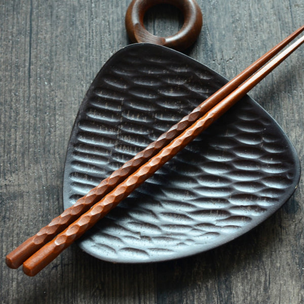 Korean Handmade Ironwood Chopsticks Set Korea Wood Chopstick Wooden Dining Tableware Accessories
