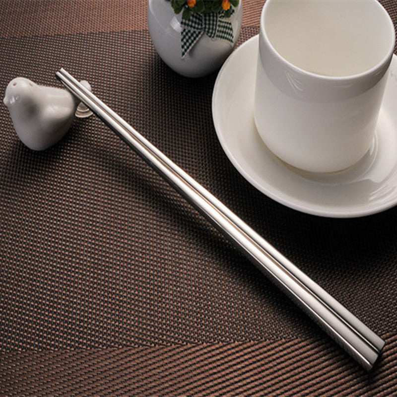 304 Stainless Steel Chinese Chopsticks 4 Pair Set 23cm China Silver Chopstick Style K