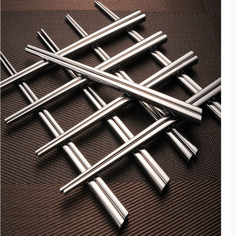 304 Stainless Steel Chinese Chopsticks 4 Pair Set 23cm China Silver Chopstick Style B