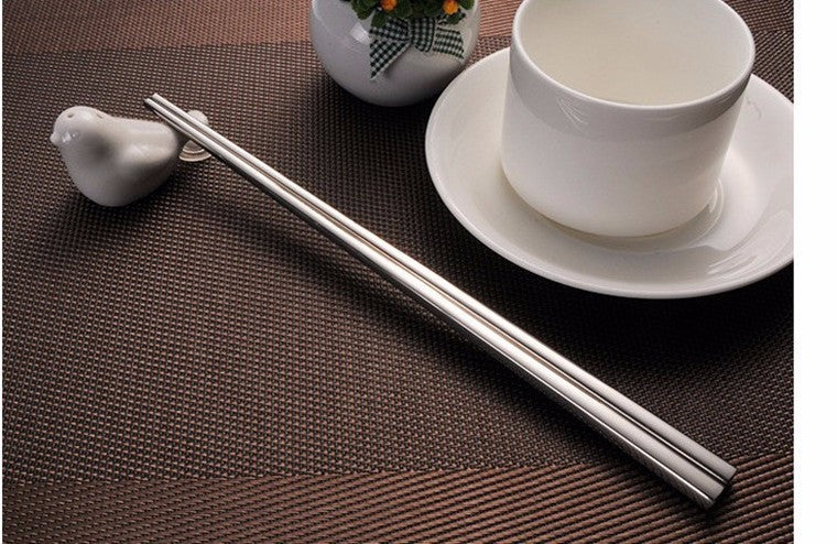 304 Stainless Steel Chinese Chopsticks 4 Pair Set 23cm China Silver Chopstick Style A