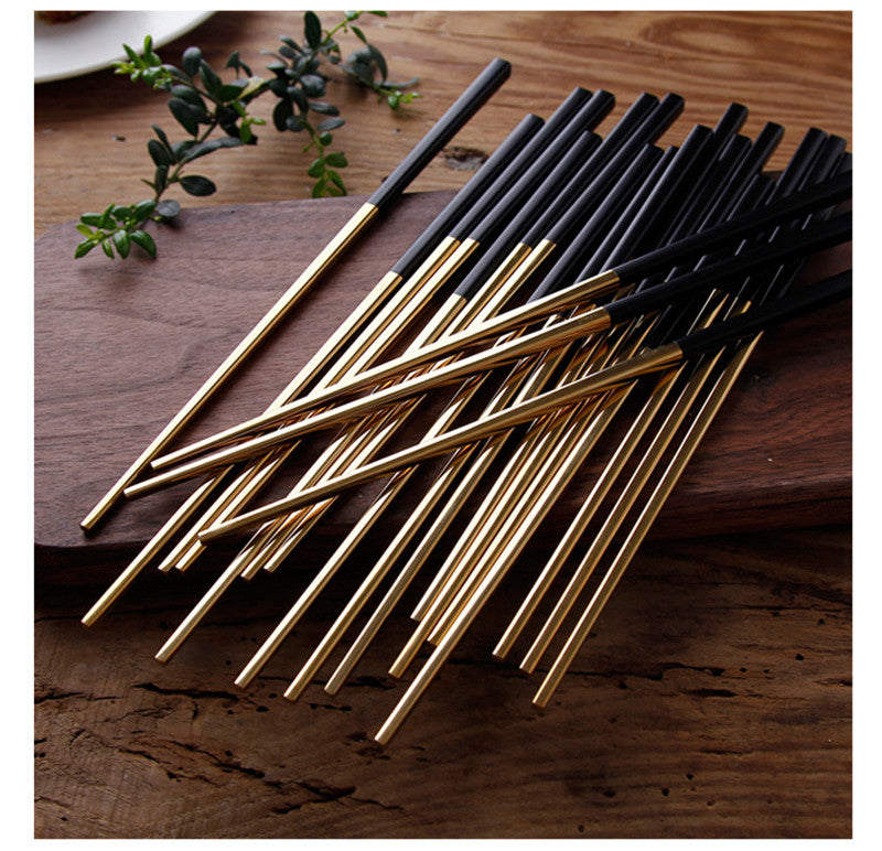 Korean Stainless Steel Chopsticks Sets Chinese Chopstick Korea Japanese Flatware Cutlery Tableware Style A