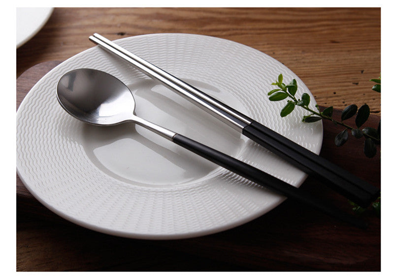 Korean Stainless Steel Chopsticks Sets Chinese Chopstick Korea Japanese Flatware Cutlery Tableware Style E