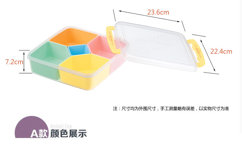 Japan 5 Grid Plastic Kids Bento Lunch Boxes Bento Box Japanese Size Chart B