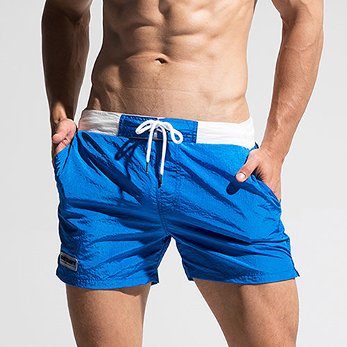 Fast Dry Mens Blue Board Shorts Summer Beach Surfing Man Swimming Shorts Athletic Sport Running Hybrid Man Shorts