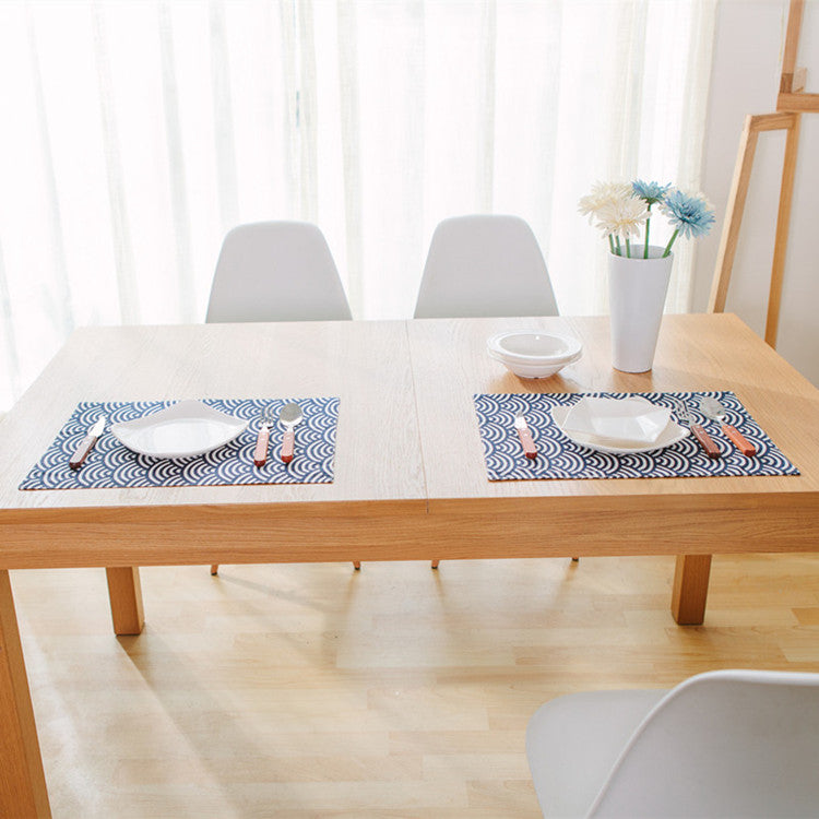 Japanese Blue Fish Scales Placemat Japan Dining Table Accessories Home Decor Design B
