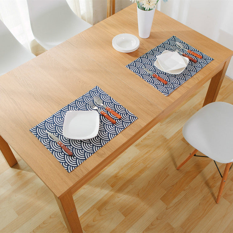 Japanese Blue Fish Scales Placemat Japan Dining Table Accessories Home Decor Design D