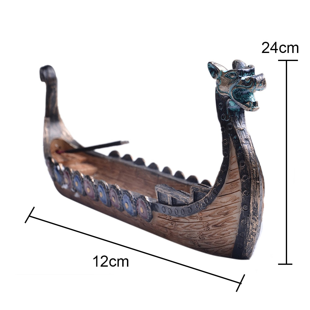 Retro Incense Burners Traditional Chinese Design Dragon Boat Incense Stick Holder Burner Hand Carved Carving Ornaments Size Chart