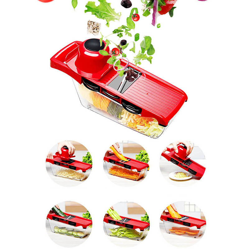 Mandoline Slicer Vegetable Cutter Manual Potato Peeler Carrot Grater Dicer Kitchenware Accessories Style A