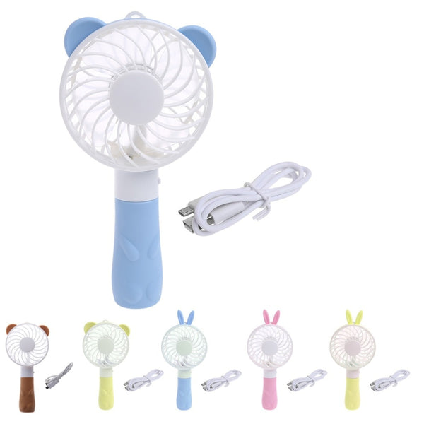 Portable Japanese Hand Fan Battery Operated USB Power Handheld Mini Japan Handheld Fans Cooler with Strap