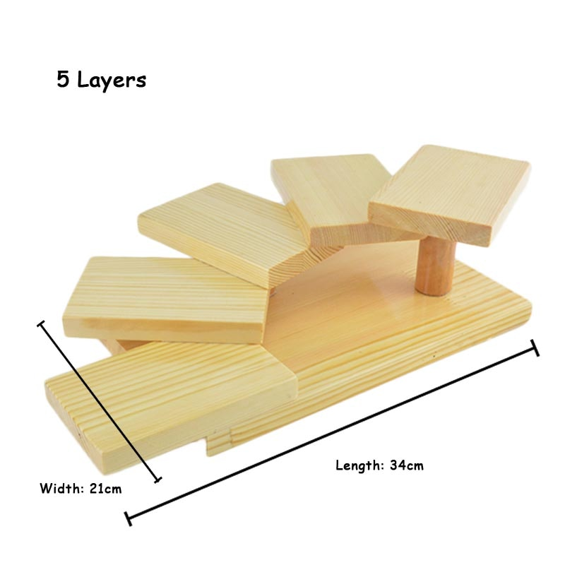 5 Layer Creative Japanese Sushi Shelf Serving Plate Tray Multilayer Wooden Dessert Frame Stand Cuisine Japan Sashimi Food Tray