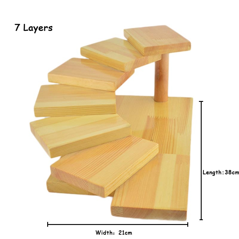 7 Layer Creative Japanese Sushi Shelf Serving Plate Tray Multilayer Wooden Dessert Frame Stand Cuisine Japan Sashimi Food Tray