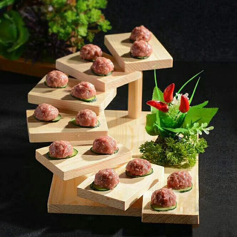 Japanese Sushi Shelf Serving Stand Dining Room Tableware
