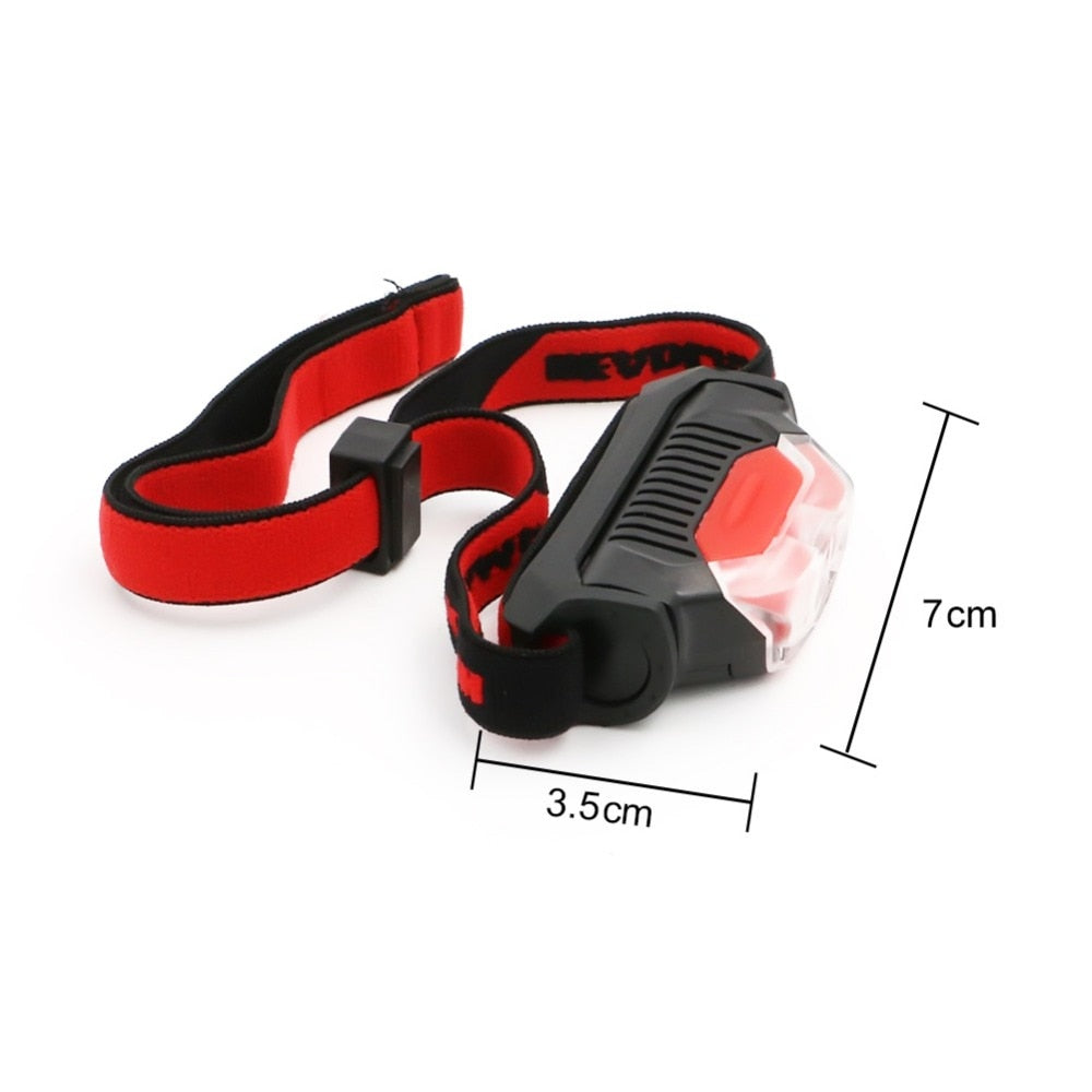 4 Modes Red Black Mini Headlamp 1*XPE+2*LED AA Battery High Power Head Torch Light Outdoor Camping Skateboarding Flashlight Street Sport