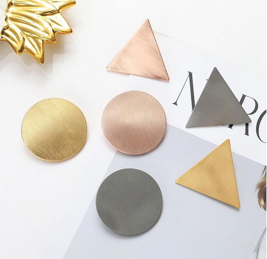 Elegant Minimalist Triangle Japanese Hair Accessories Metal Triangular-Cut Or Circle Hairpin Contracted Temperament Hair Clip Headwear Accessories