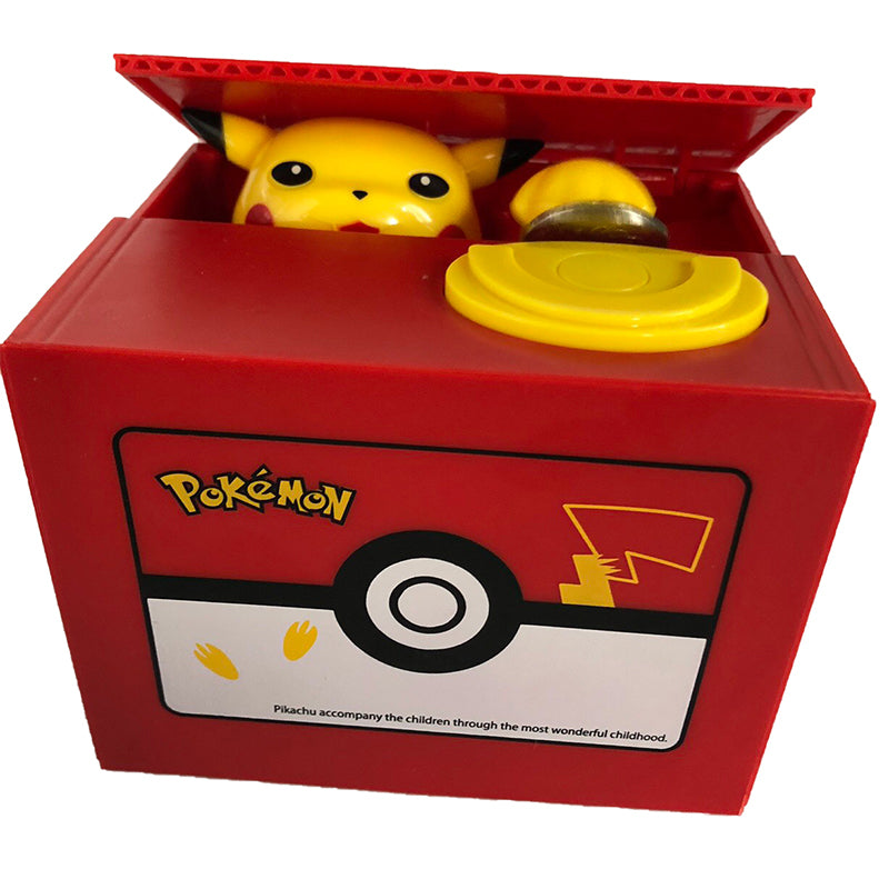 Automatic Pokémon Stealing Coin Piggy Bank Pokemon Money Savings Box Coin Piggy Bank Cash Boxes Stole Coins Child Kids Gift Home Decoration Accessories Japan Style