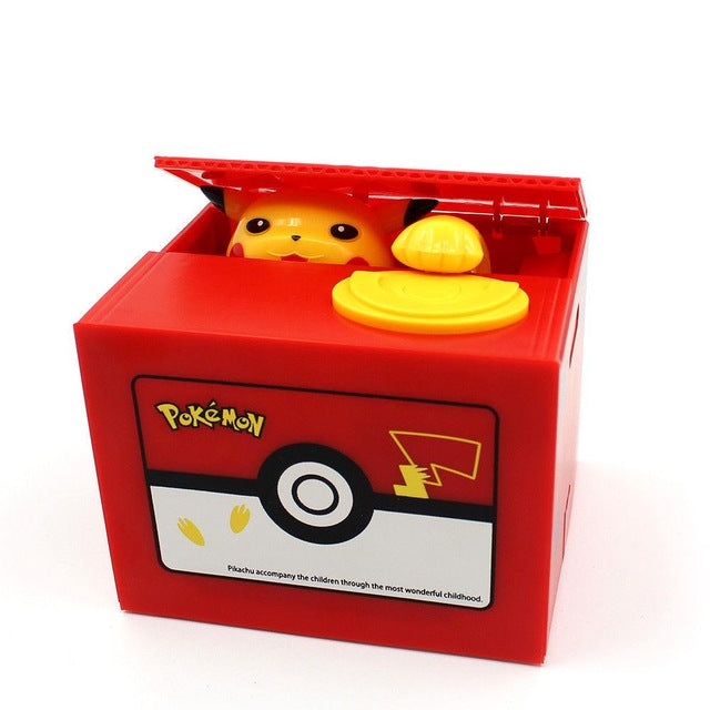 Automatic Pokémon Stealing Coin Piggy Bank Money Savings Box Coin Piggy Bank Cash Boxes Child Kids Gift Home Decoration Accessories Style B
