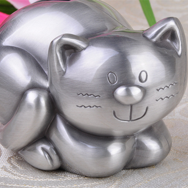 Cute Tabby Cat Coin Piggy Bank Money Savings Box Coin Piggy Bank Cash Boxes Child Kids Gift Home Decoration Accessories Style B