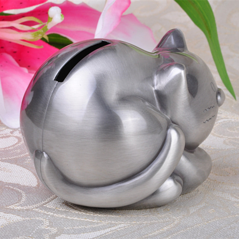 Cute Tabby Cat Coin Piggy Bank Money Savings Box Coin Piggy Bank Cash Boxes Child Kids Gift Home Decoration Accessories Style A