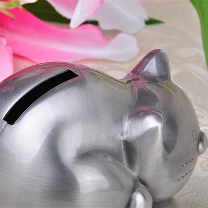 Cute Tabby Cat Coin Piggy Bank Money Savings Box Coin Piggy Bank Cash Boxes Child Kids Gift Home Decoration Accessories Style D