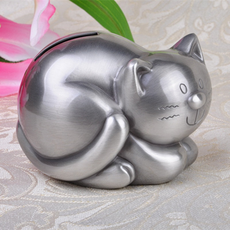 Cute Tabby Cat Coin Piggy Bank Money Savings Box Coin Piggy Bank Cash Boxes Child Kids Gift Home Decoration Accessories Style C