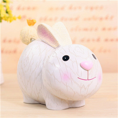 Rabbit Animal Coin Piggy Bank Money Savings Box Coin Piggy Bank Cash Boxes Child Kids Gift Home Decoration Accessories Style G