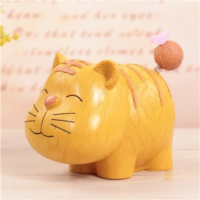 Tiger Animal Coin Piggy Bank Money Savings Box Coin Piggy Bank Cash Boxes Child Kids Gift Home Decoration Accessories Style F