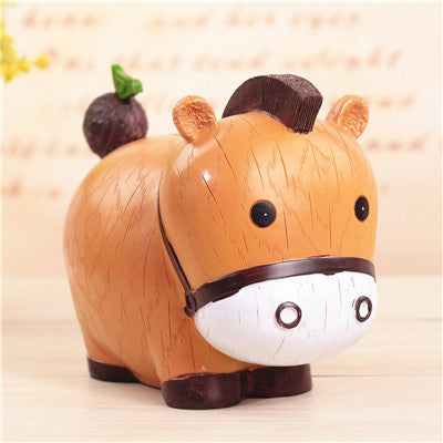 Cow Animal Coin Piggy Bank Money Savings Box Coin Piggy Bank Cash Boxes Child Kids Gift Home Decoration Accessories Style J