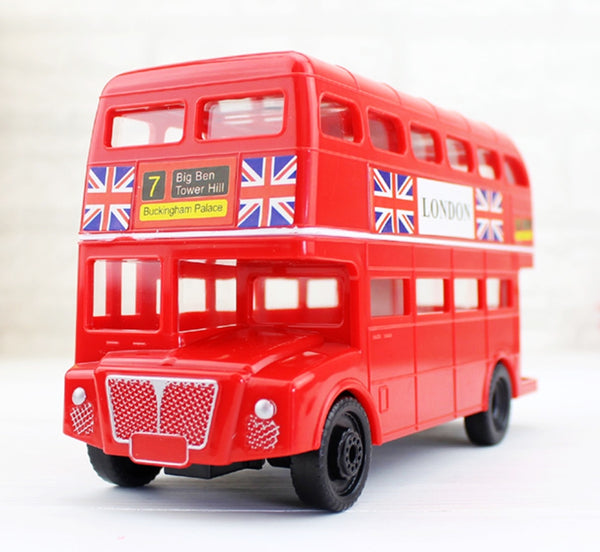 British London Double Decker Bus Coin Piggy Bank Money Savings Box Coin Piggy Bank Cash Boxes Child Kids Gift Home Decoration Accessories Style