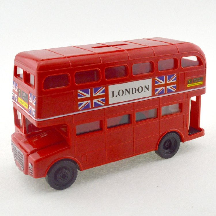 British London Double Decker Bus Coin Piggy Bank Money Savings Box Coin Piggy Bank Cash Boxes Child Kids Gift Home Decoration Accessories Style C