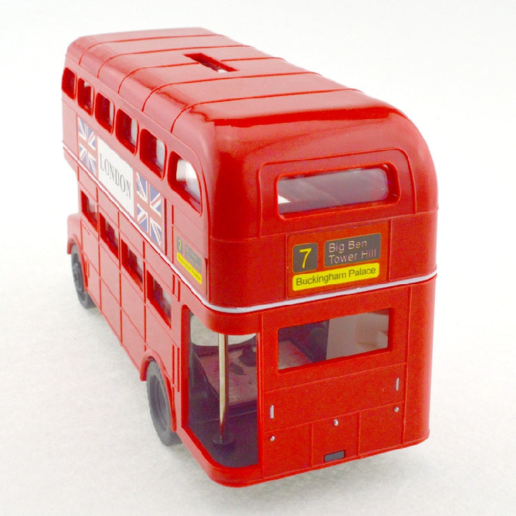 British London Double Decker Bus Coin Piggy Bank Money Savings Box Coin Piggy Bank Cash Boxes Child Kids Gift Home Decoration Accessories Style A