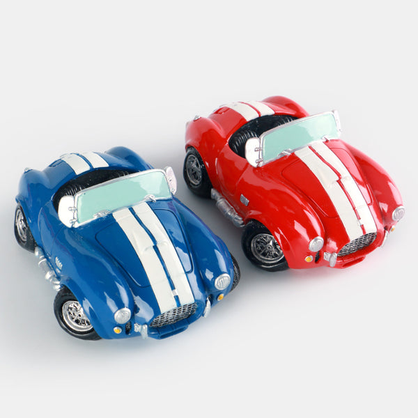 Vintage Blue Red Roadster Sports Car Coin Piggy Bank Money Savings Box Coin Piggy Bank Cash Boxes Child Kids Gift Home Decoration Accessories Style