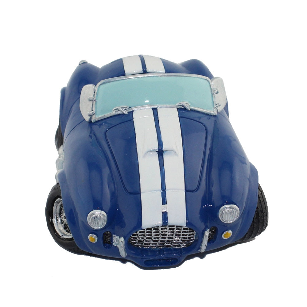 Vintage Blue Roadster Sports Car Coin Piggy Bank Money Savings Box Coin Piggy Bank Cash Boxes Child Kids Gift Home Decoration Accessories Style J