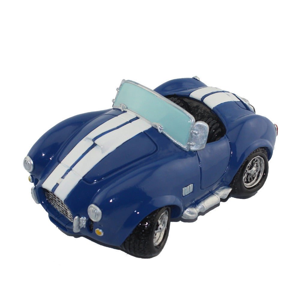 Vintage Blue Roadster Sports Car Coin Piggy Bank Money Savings Box Coin Piggy Bank Cash Boxes Child Kids Gift Home Decoration Accessories Style H