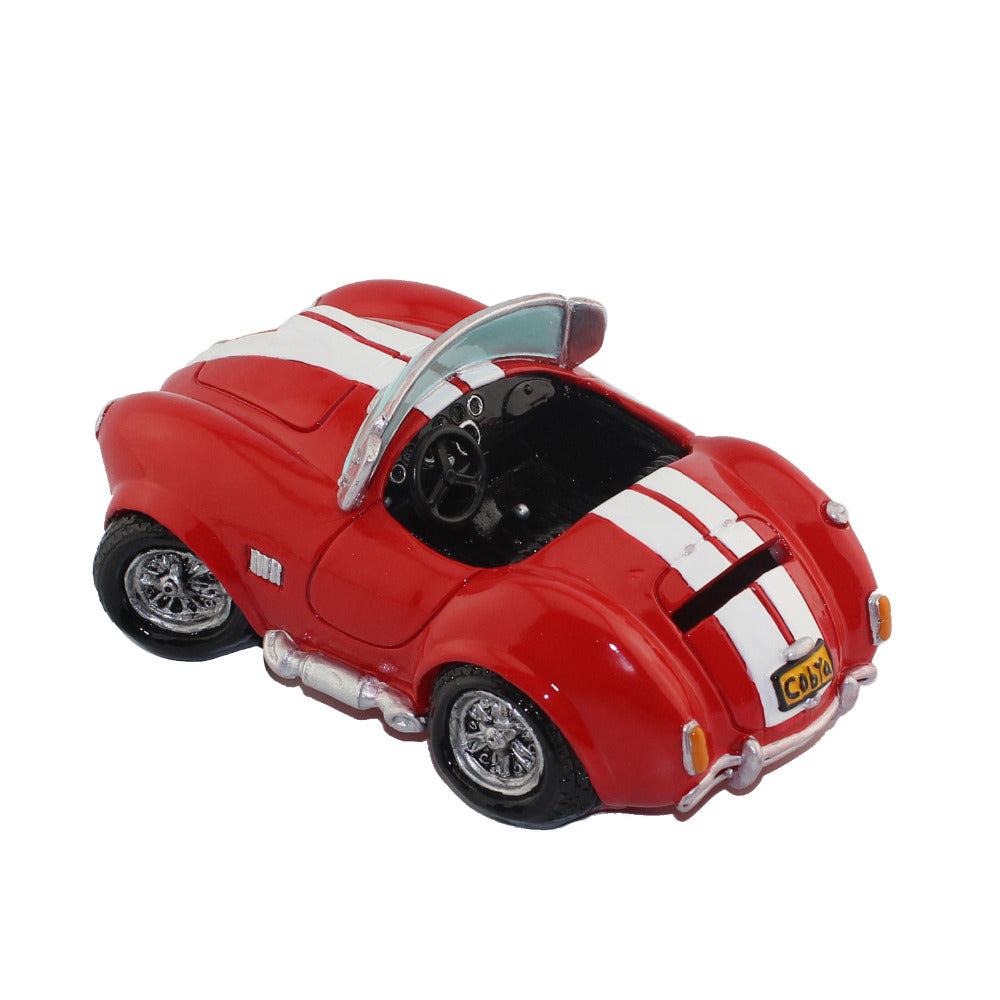 Vintage Red Roadster Sports Car Coin Piggy Bank Money Savings Box Coin Piggy Bank Cash Boxes Child Kids Gift Home Decoration Accessories Style C