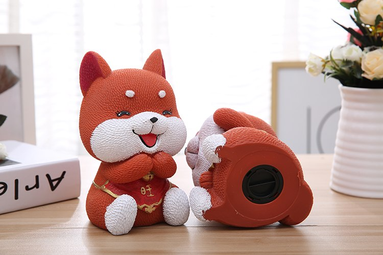 Cute Akita Lucky Dog Coin Piggy Bank Money Savings Box Coin Piggy Bank Cash Boxes Child Kids Gift Home Decoration Accessories Style K