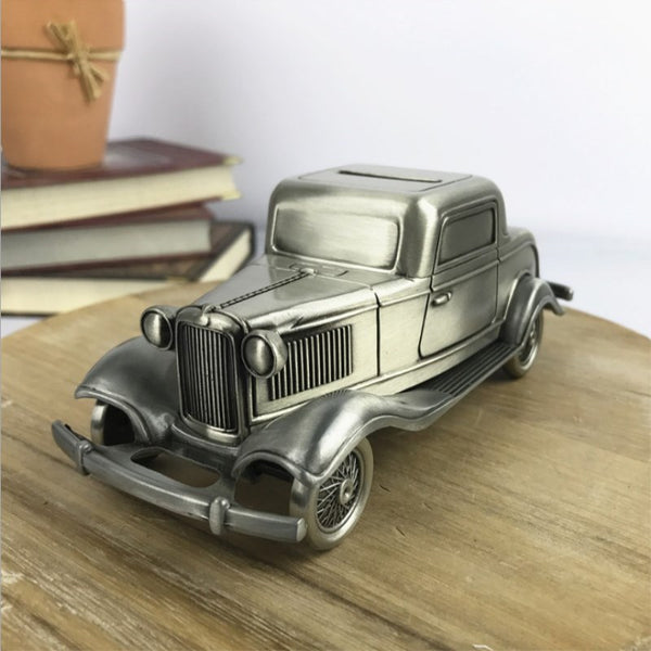 Classic American Car Coin Money Box Money Savings Coin Piggy Bank Cash Box Gift Home Decoration Accessories Style