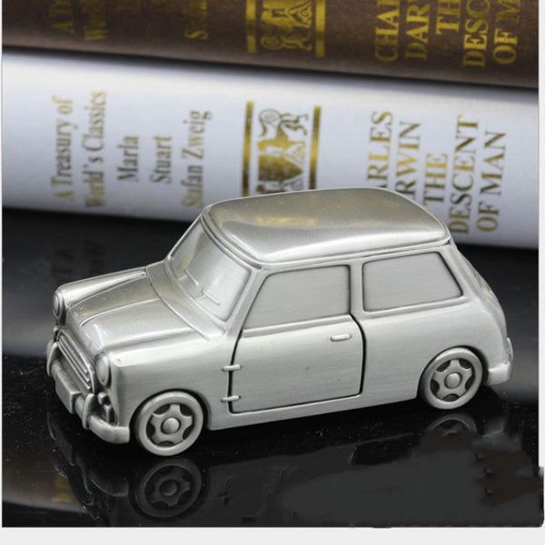 Metal British Mini Cooper Model Car Money Box Money Savings Coin Piggy Bank Cash Box Gift Home Decoration Accessories Style