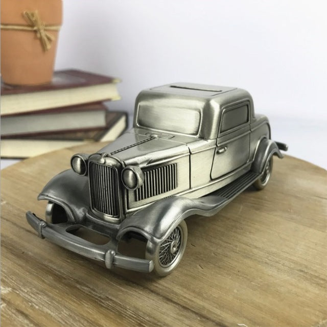 Classic American Car Coin Money Box Money Savings Coin Piggy Bank Cash Box Gift Home Decoration Accessories Style B