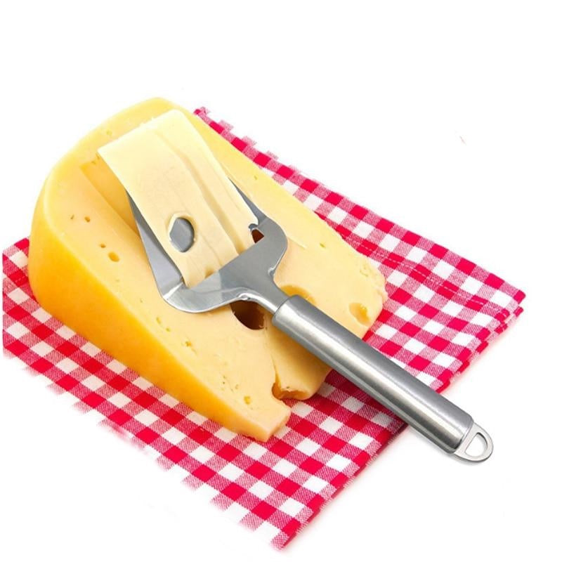 Stainless Steel Cheese Plane   Cheese Slicer Grater for Semi Hard and Hard Cheesees Pizza Server