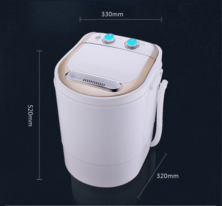 4.0kg Electric Mini Washing Machine Top Loading Semi Automatic Washer Dryer Kitchen Household Appliance Style D