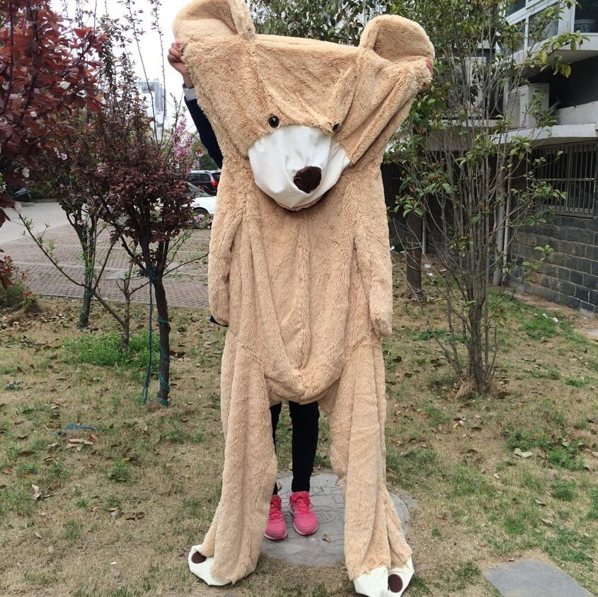 Anime Kawaii Huge Size 260cm American Giant Bear Skin Teddy Bear Coat Plush Doll Soft Toys for Child Popular Gift Cuddle