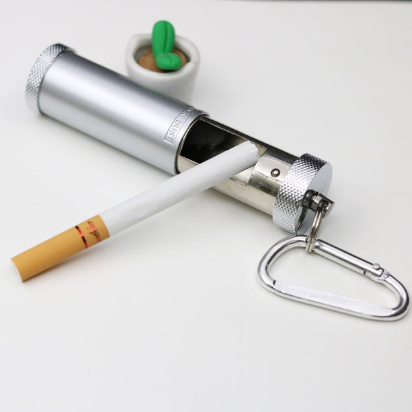 Japanese Portable Pocket Ashtray Mini Outdoor Key Chain Ashtrays Metal Smoke Free Pocket metal pipe Portable Japan Ash Tray